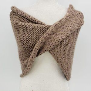 Bebe Brown Taupe Knit Wrap Shawl